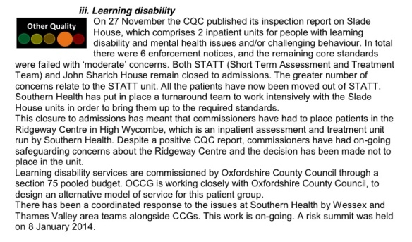 OCCG learning disability