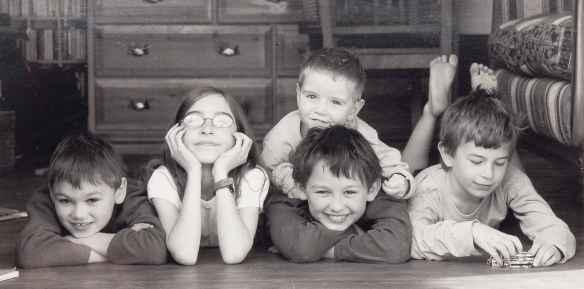 Connor with his brothers and sisters